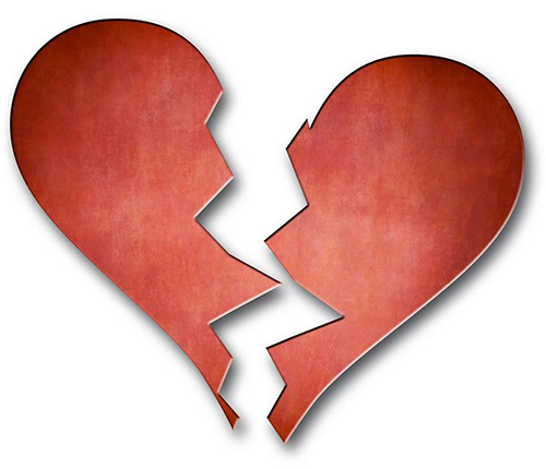 Broken Heart For Facebook Symbols Emoticons