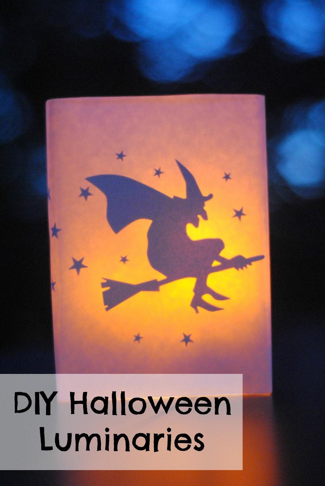 DIY Halloween Luminaries for Cheap Halloween Decor
