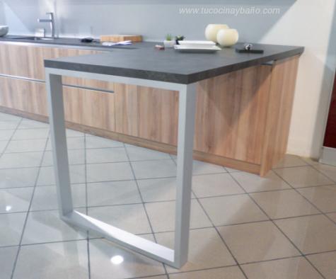 pata diseño peninsula barra cocina aluminio