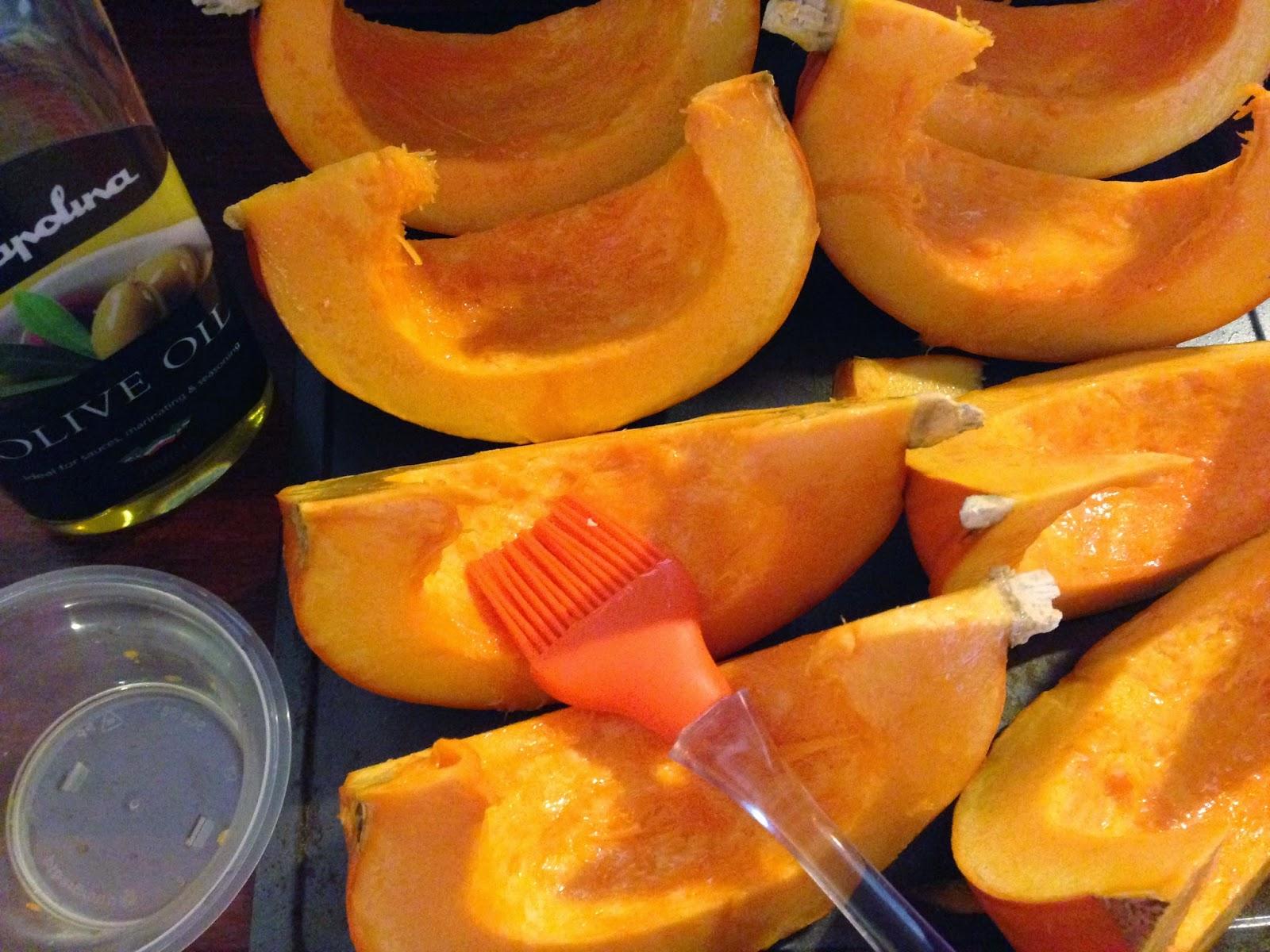 oiled pumpkin
