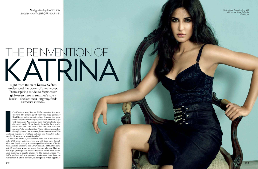 Katrina Kaif Hot HQ Vogue Scans