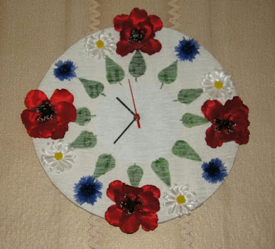 Часы,цветы, казанши