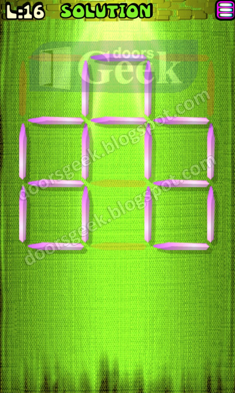 Matches puzzle episode 4 level 16 solution doors geek for 16 door puzzle solution