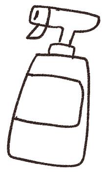 洗剤のイラスト(掃除)線画