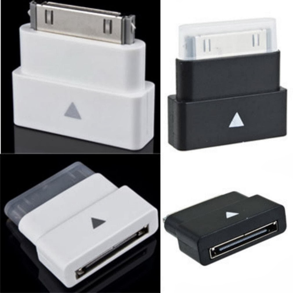 30 Pin Dock Extender Extension Adapter Male to Female for iPhone 4 4S iPad2 iPod