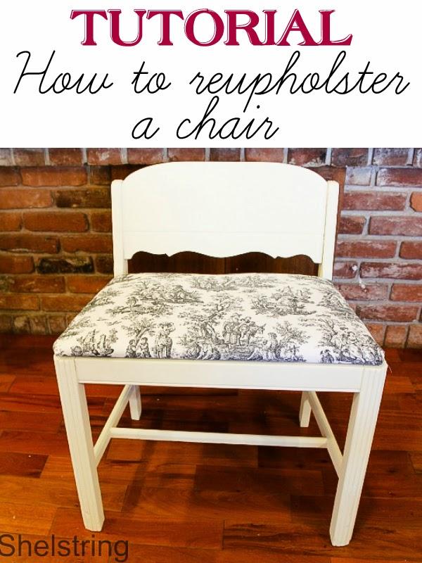 Shelstring Blog Reupholstering A Chair Cushion