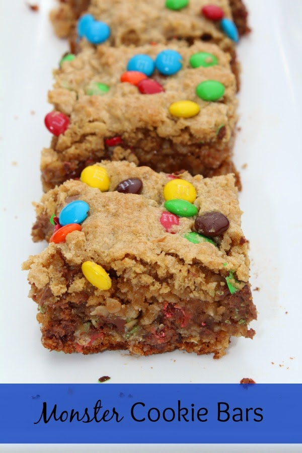 monster cookie bar recipe