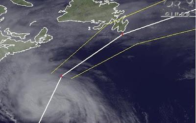 Hurrikan OPHELIA wird schneller, schwächer und zieht ab morgen Richtung Europa, Europa, Ophelia, Neufundland, Kanada, aktuell, Verlauf, Zugbahn, Vorhersage Forecast Prognose, Oktober, 2011, Hurrikansaison 2011,