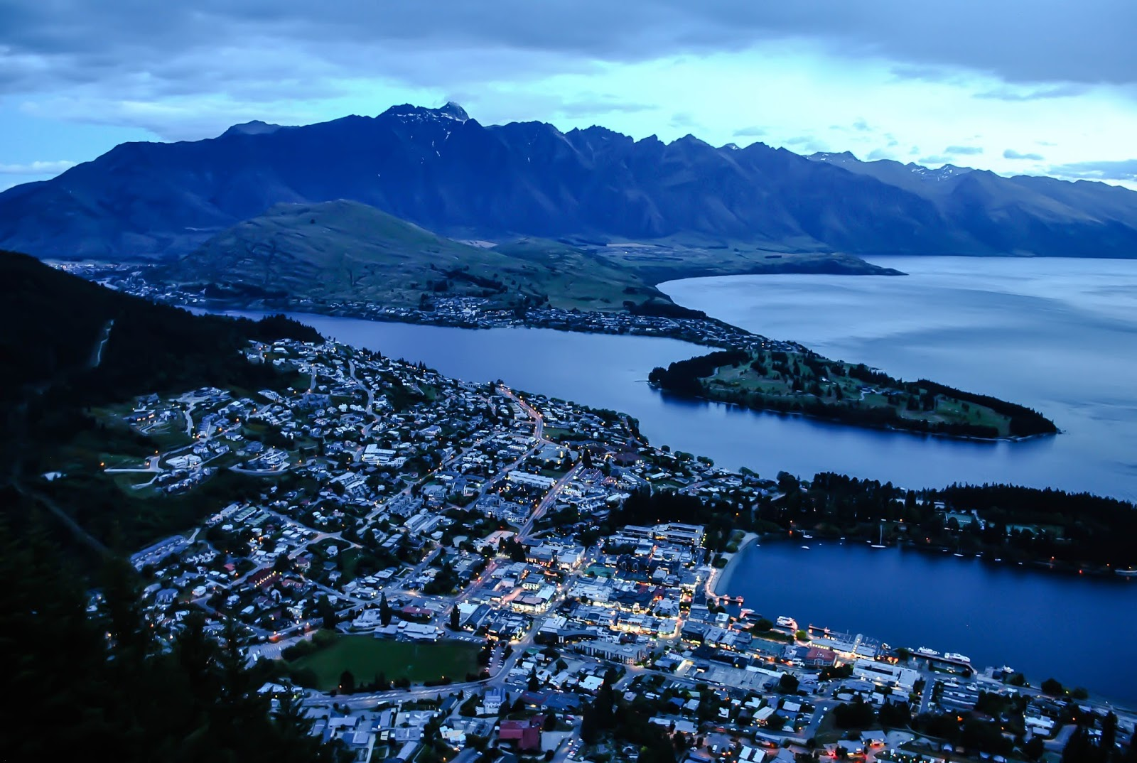View from the Skyline Gondola in Queenstown New Zealand
