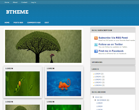BTheme Blogger Theme