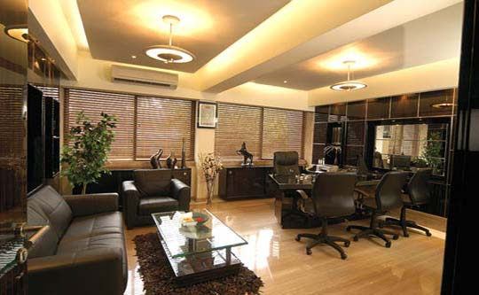 Interior design office ideas from mahesh punjabi home for Cheap office decorating ideas
