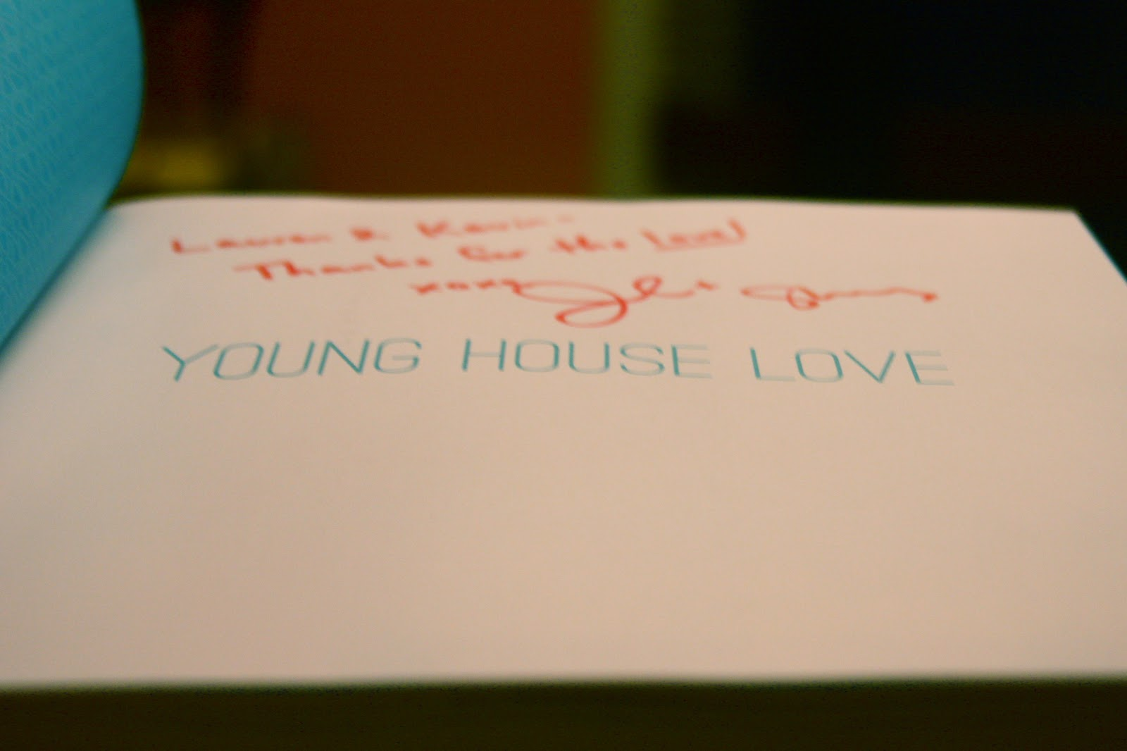 Young House Love signed book