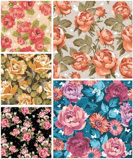 ヴィンテージな春の花のパターン vintage spring floral patterns with roses イラスト素材