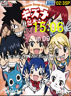 Samsung SGT-S5530 Fairy Tail Theme 2 Download Wallpaper