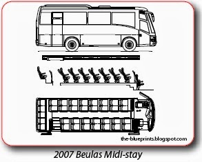 Vector blueprints cars trucks busses and others bus blueprints hyundai malvernweather Images