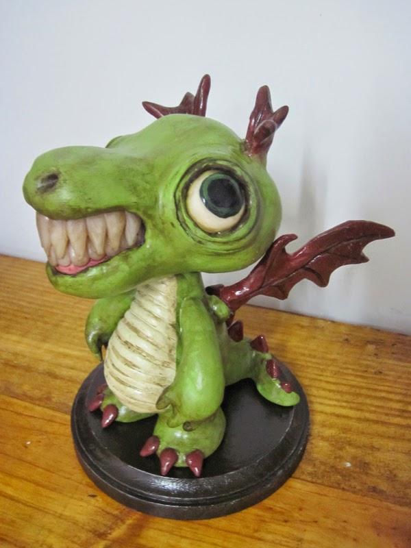 06-Dig-Dug-Dragon-Deanna-Molinaro-aka-Chickenshoot-Odd-Clay-Sculptures-www-designstack-co