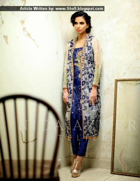 Fancy Designer Formal Suits by Nida Azwer