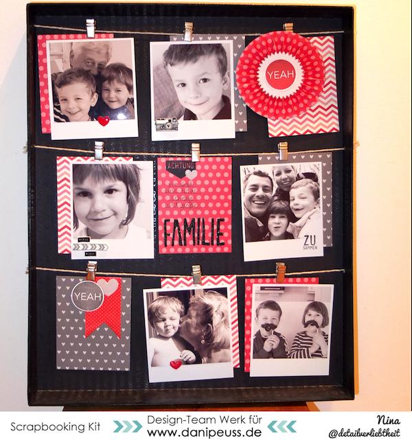 Rahmen Kiste als Bilderrahmen / Home Deko von Nina für www.danipeuss.de