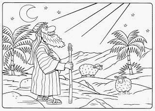Desenho para colorir de Abraão
