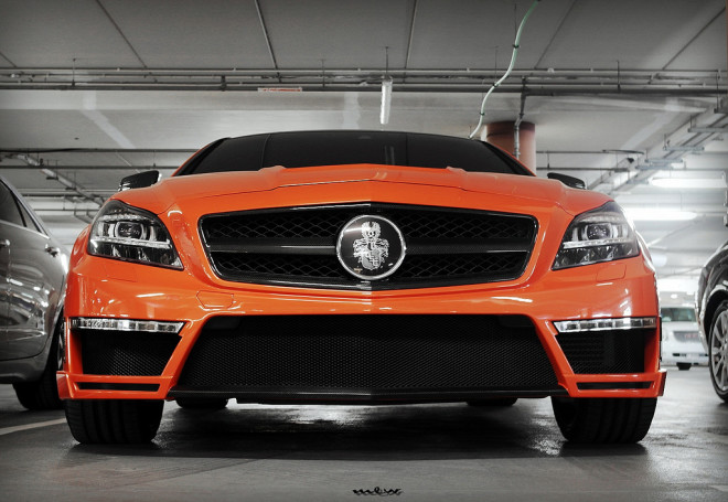Orange Mercedes Cls63 Tuned By Gsc