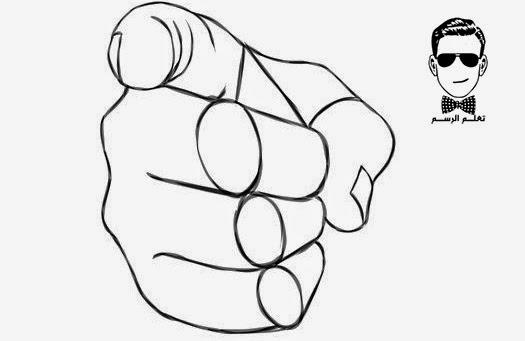 تعلم الرسم - كيفية رسم يد بالخطوات للمبتدئين