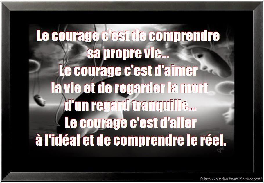 Une citation courage et force en image