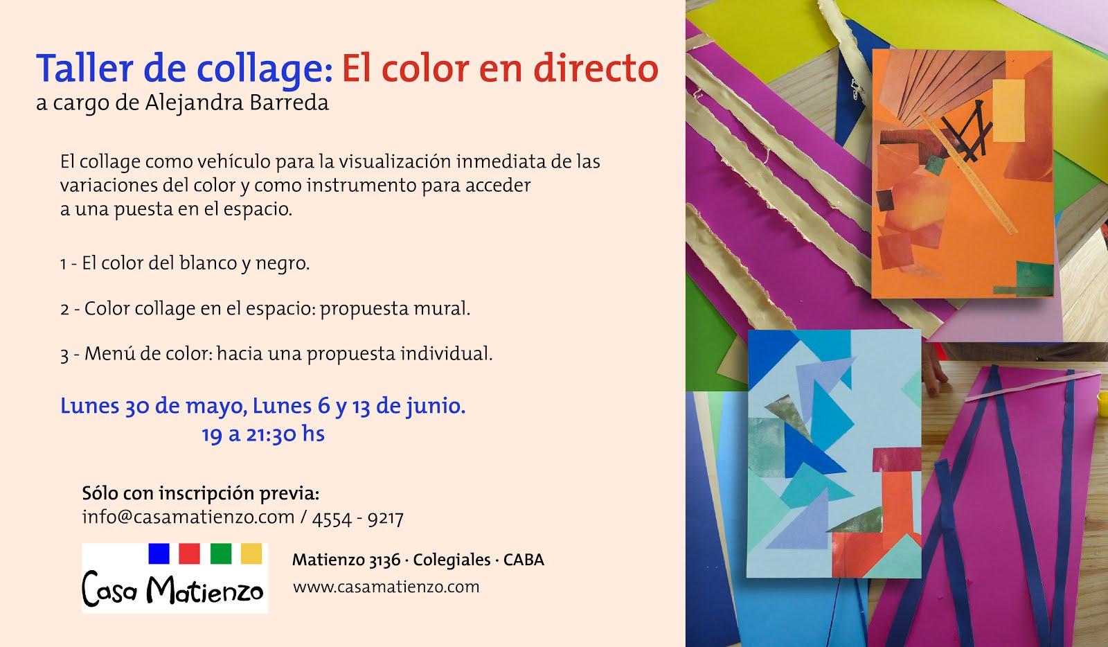 TALLER DE COLLAGE: EL COLOR EN DIRECTO. A cargo de Alejandra Barrera