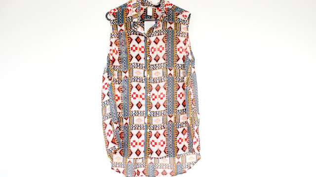 hm aztec tribal chiffon top