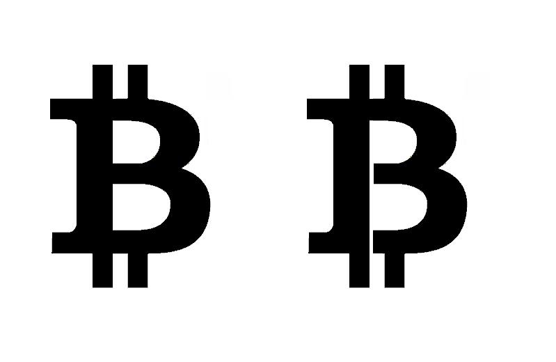 Bitcoin Logo Black Quot 2 Horns Quot Bitcoin Logo And