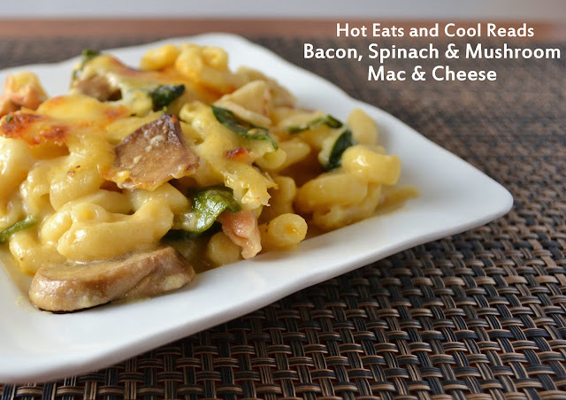 This recipe is one of those Sunday dinner comfort foods! Hearty and delicious! Bacon, Spinach and Mushroom Macaroni and Cheese Recipe from Hot Eats and Cool Reads