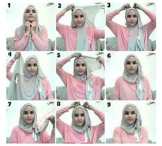 Koleksi Tutorial Cara Memakai Hijab Modern Dan Modis Terbaru 2015