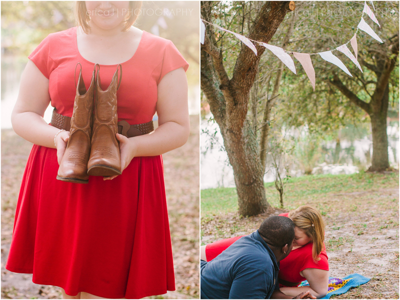 engagement photography south florida cowboy boots