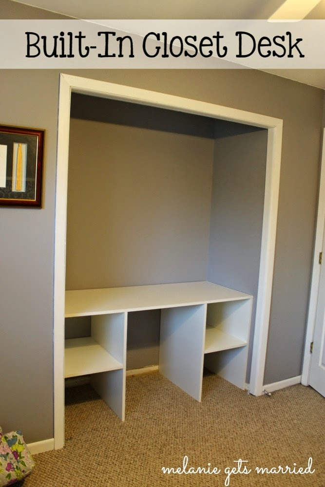 someday crafts built in closet desk