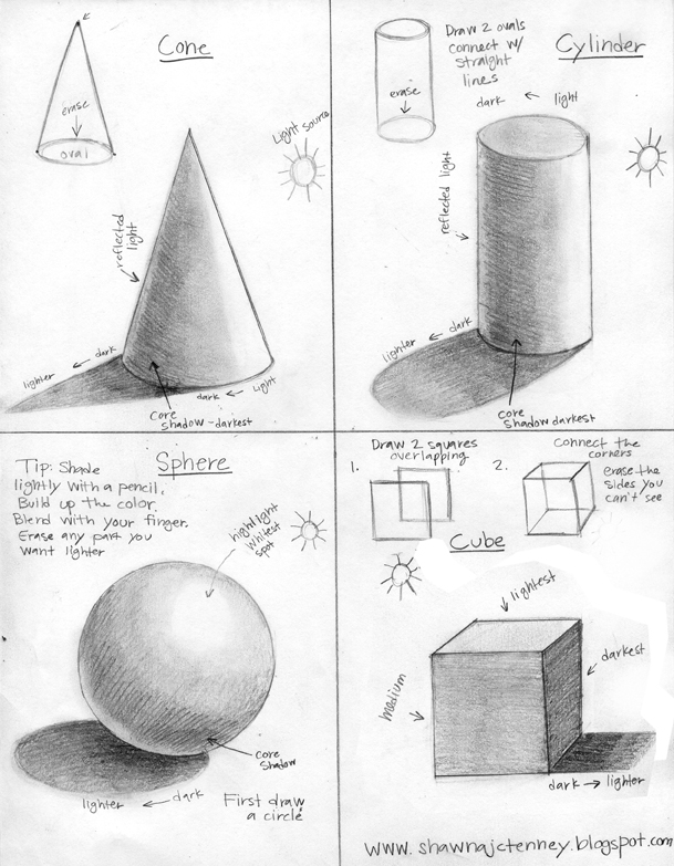 Form And Value In Art : Shawna jc tenney how to draw and shade d shapes