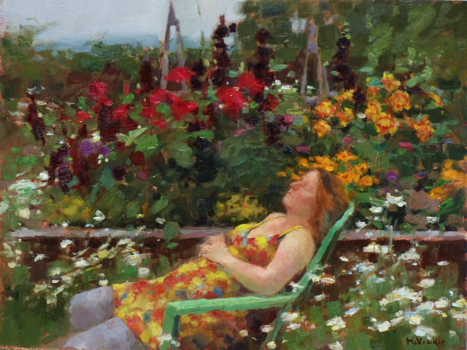 Alex Napping 12x16 Oil On Panel