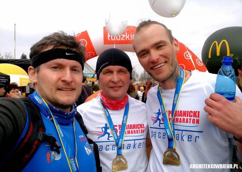 v pabianicki półmaraton 2015 - pacemaker na półmaratonie