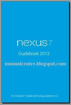 Asus Google Nexus 7 2 Manual Cover