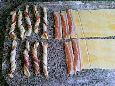 feltekert baconös rudacskák