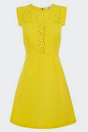 A bright yellow sun dress