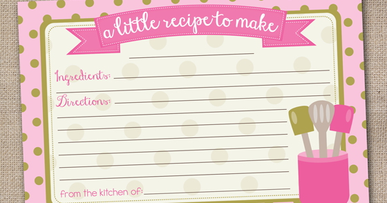 Ink Obsession Designs: New Printable Recipe Card Designs