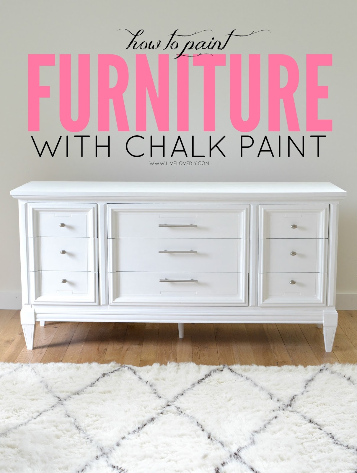 Livelovediy how to paint furniture with chalk paint and for Diy paint