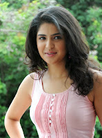 Deeksha Seth New Fit Avatar in Tight Light Pink Tank Top and Denim Leggings