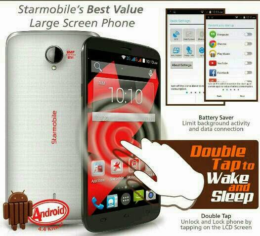 Starmobile Up+, 5-inch Quad Core KitKat Phablet for Php5,490