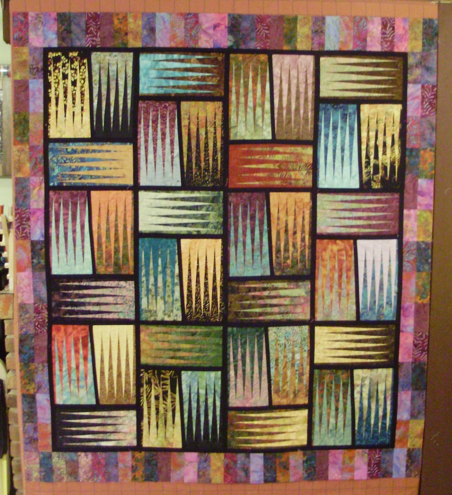 Stepping Stones, Batiks, Paper Piecing, Judy Neimeyer