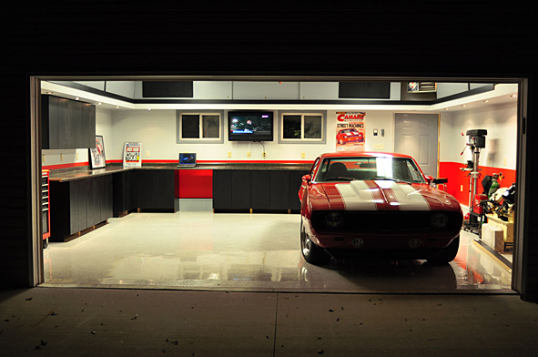Life time gear 39 69 chevrolet camaro x outstanding garage for Garages and shops