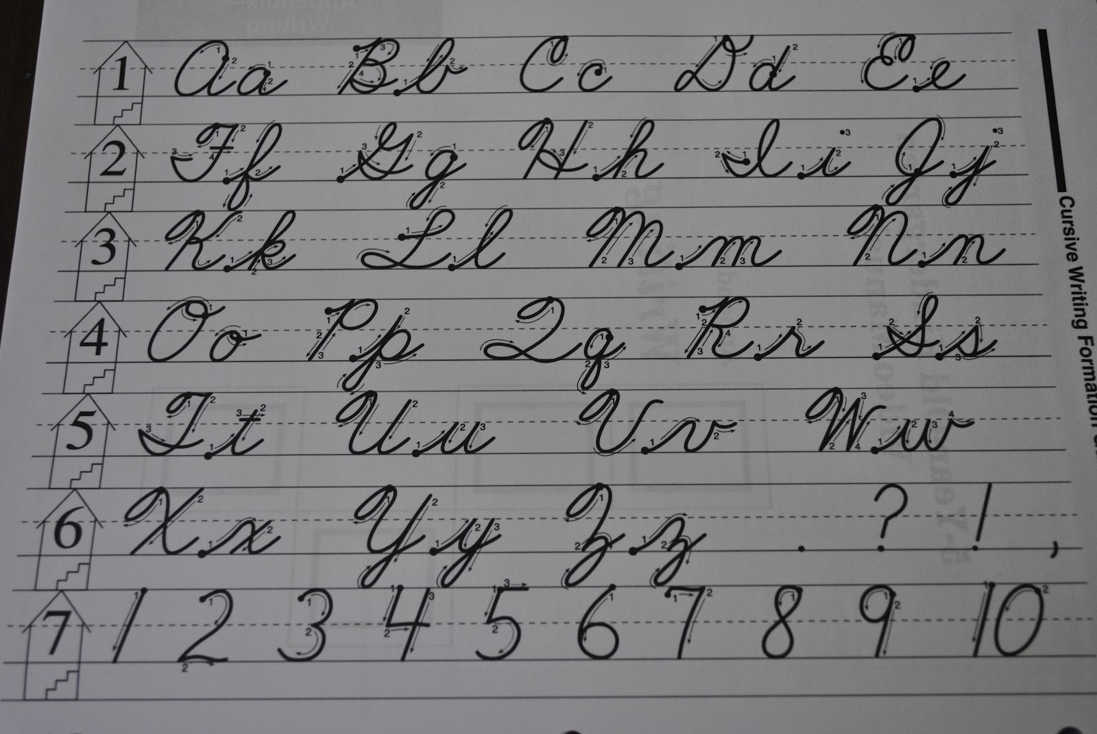 capital cursive writing