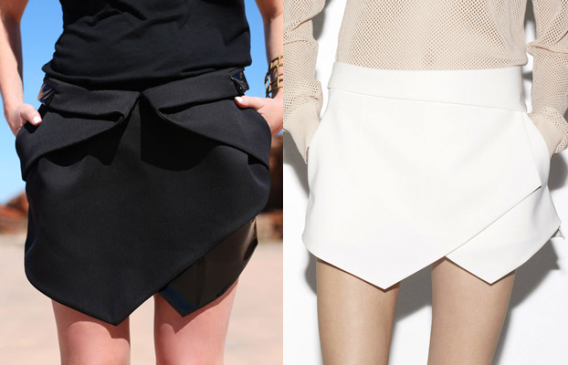 dion lee skirt vs zara skirt | falda de dion lee vs falda de zara