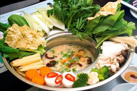 Vegetarian Hotpot (Lau Chay)