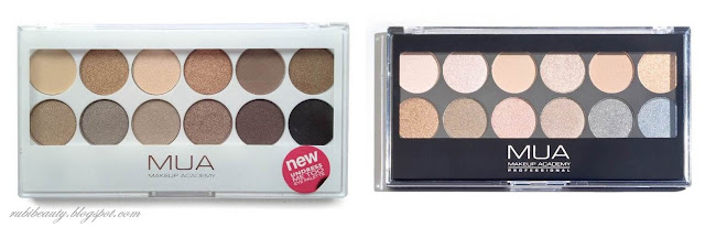 sombras paletas eyeshadow palette MUA undressed maquillaje makeup kit basico principiantes