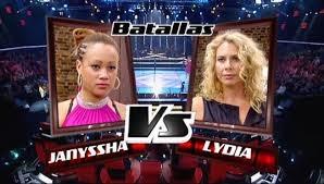 Janyssha Lyon y Lydia Lauren-Batallas La Voz